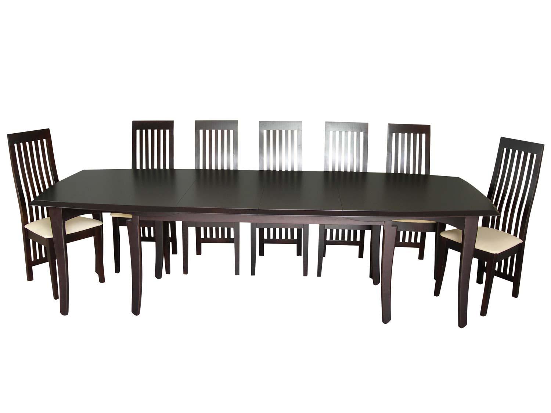 Duży mocny stolik z drewna