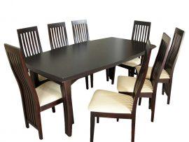 Klasyczne krzesło ze skórzaną tapicerką
