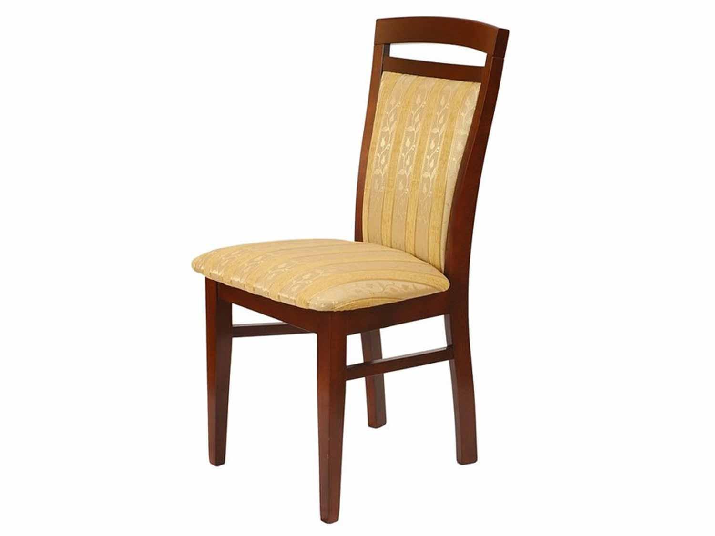 Krzesło tapicerowane z drewnem