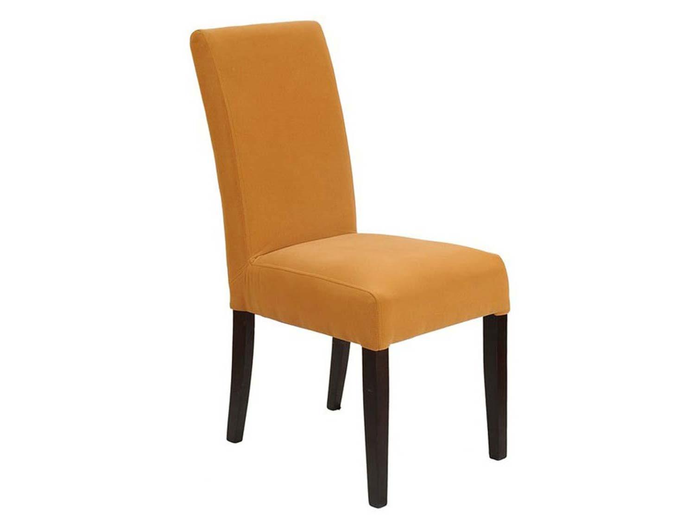 Miękkie wygodne krzesło pomarańczowe