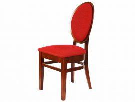 Piękne czerwone krzesło