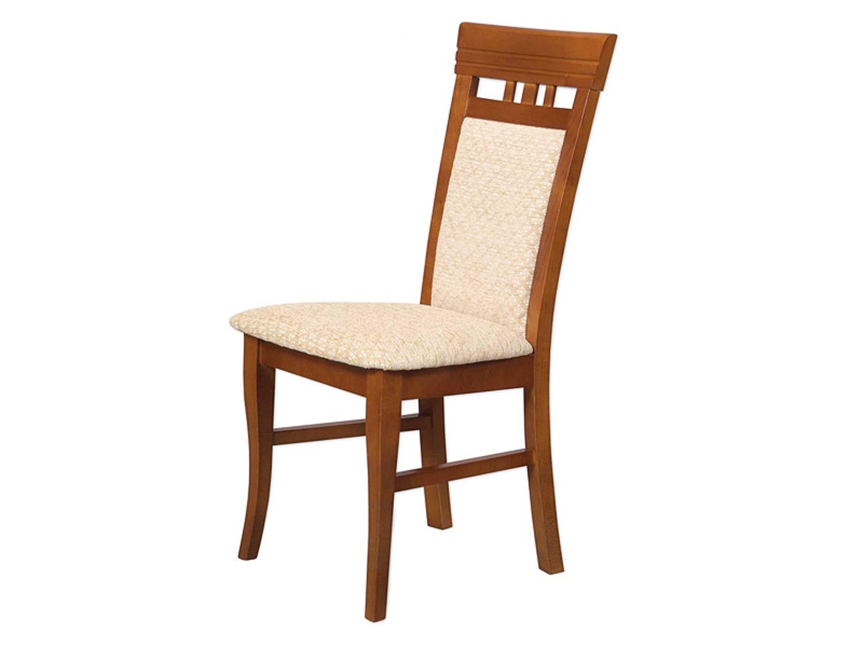 Proste orzechowe krzesło do salonu