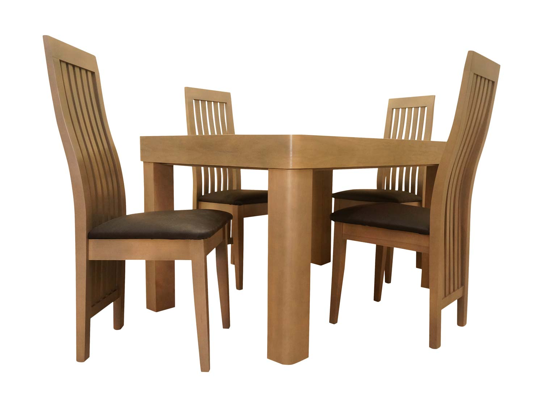 Eleganckie wytrzymałe drewniane zestaw krzeseł