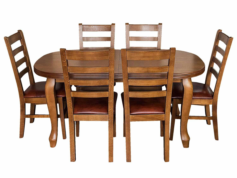 Komplet do jadalni krzesła ze stołem