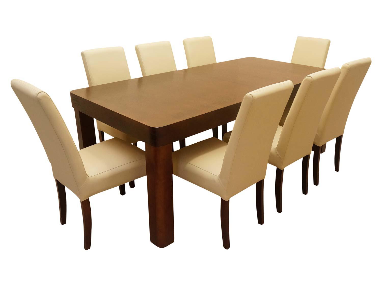 Stół z krzesłami dla ośmiu osób