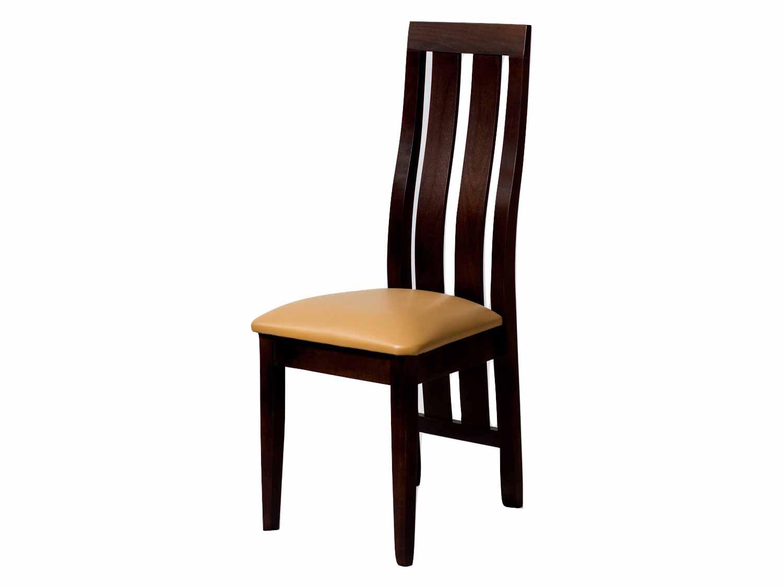 Drewniane krzesło ze skóry