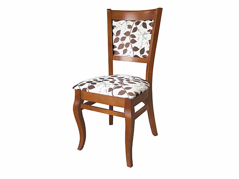 Krzesło do jadalni z kwiatkami
