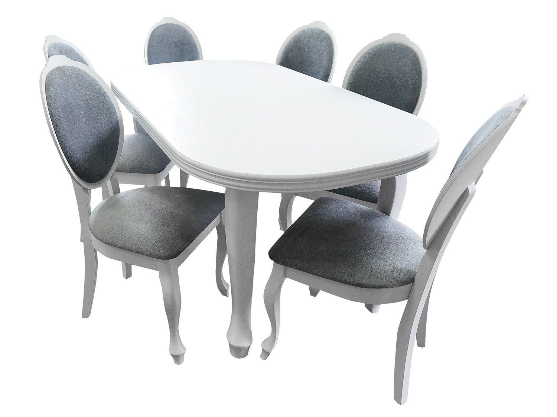 Stół Ludwik + 6 Krzeseł Wera