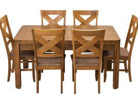 Stół Borys Rozkładany + 6 Krzeseł Texas