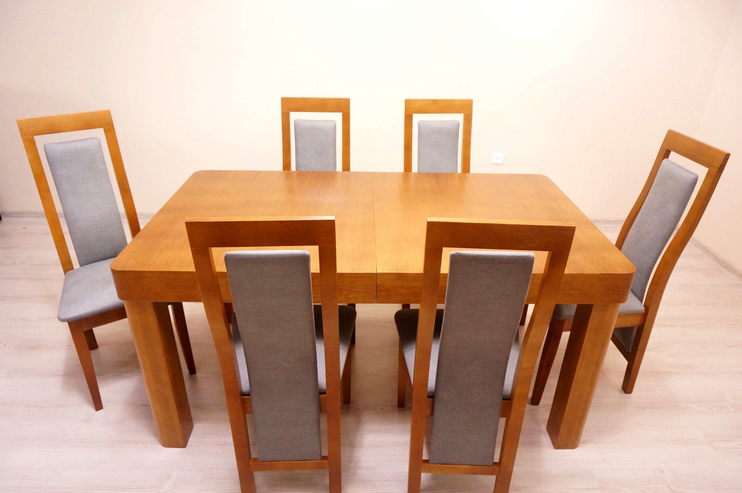 Stół Borys + 6 Krzeseł Basia