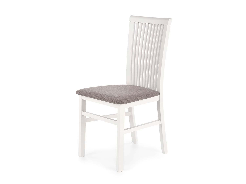 Białe krzesło do jadalni