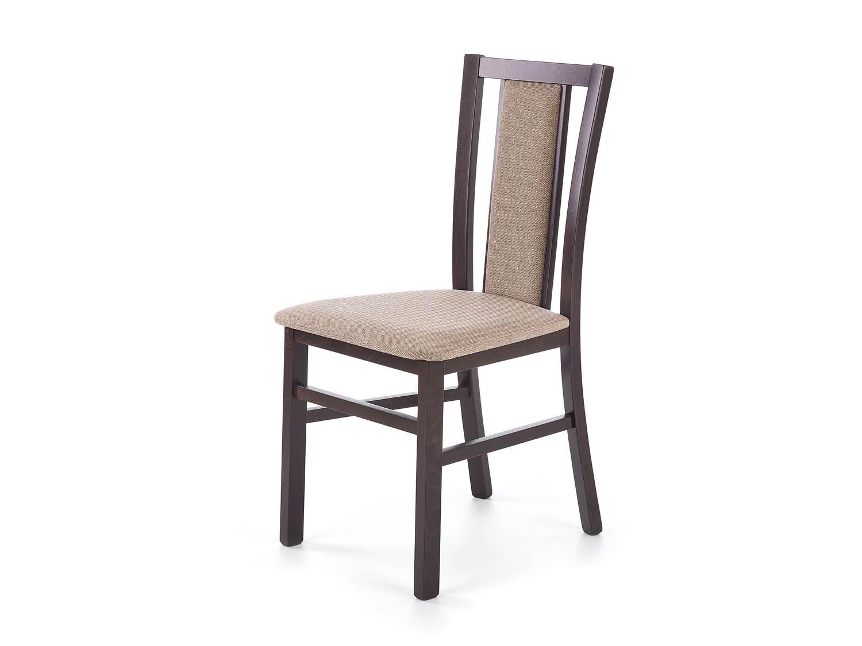 Klasyczne drewniane krzesło w kolorze orzecha