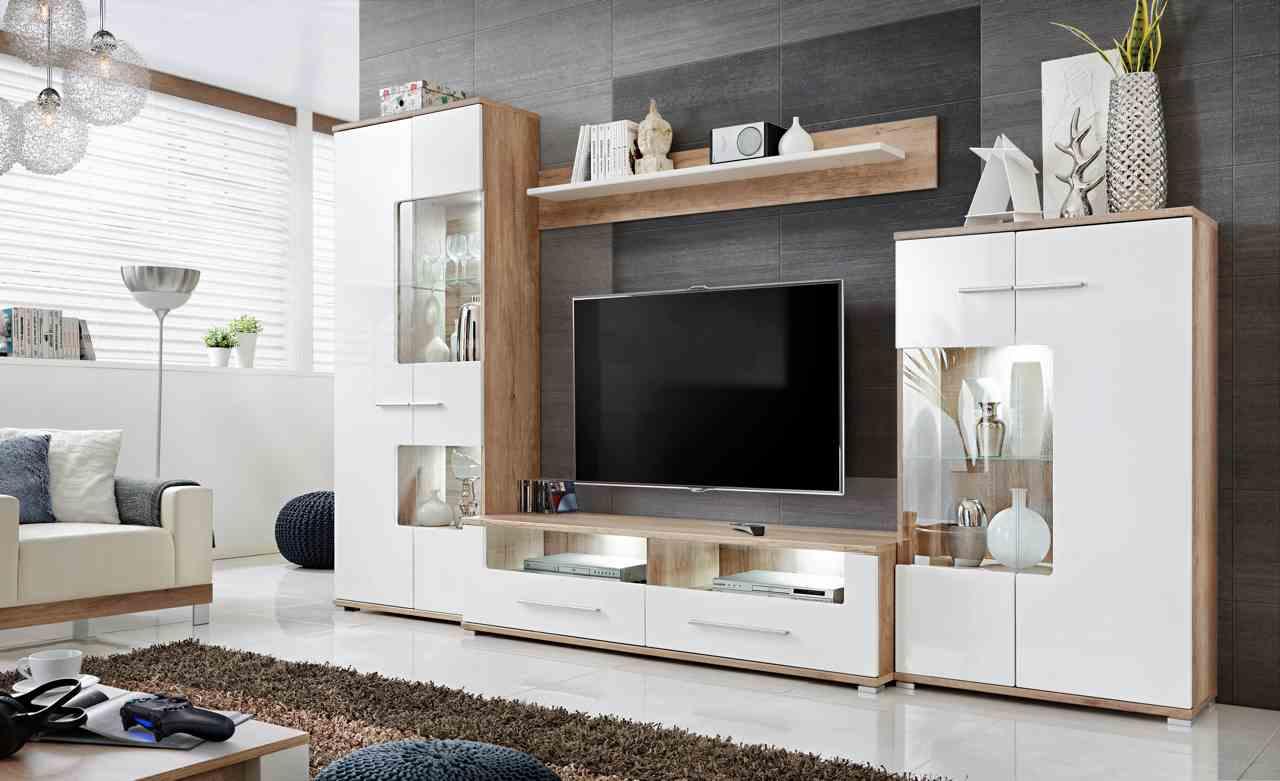 Biała Meblościanka pod TV Isabella 3