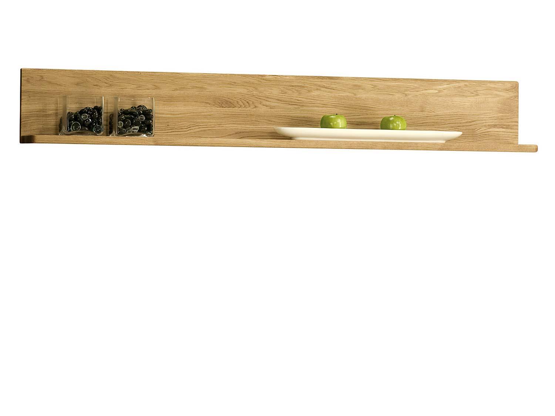 Klasyczna dębowa półka w kolorze naturalnym