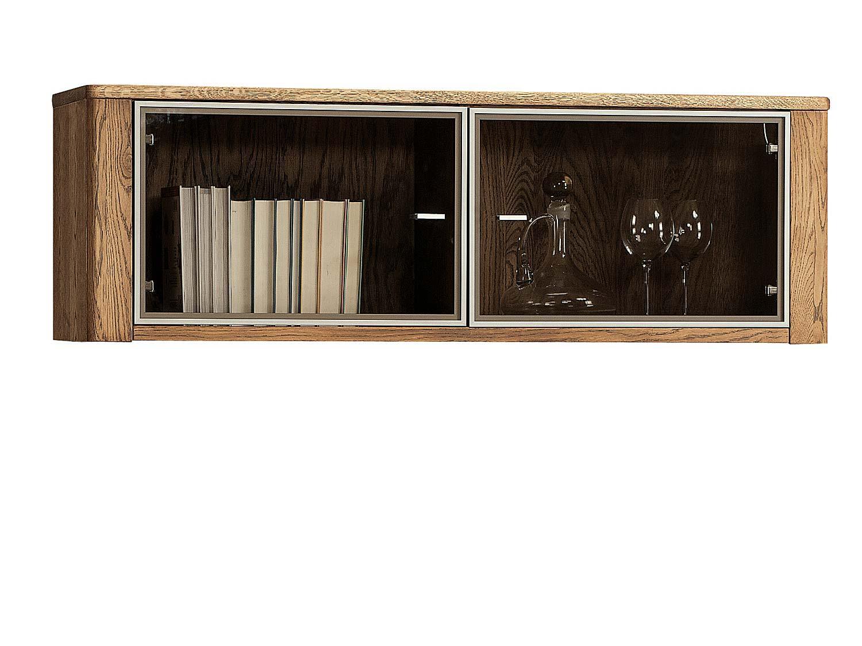 Wisząca przeszklona szafka na książki