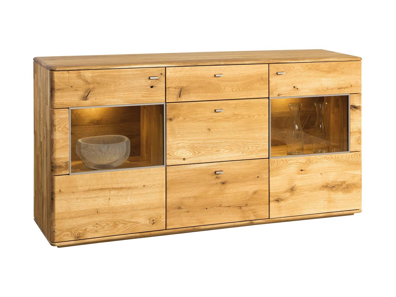 Drewniana szafka RTV z półkami