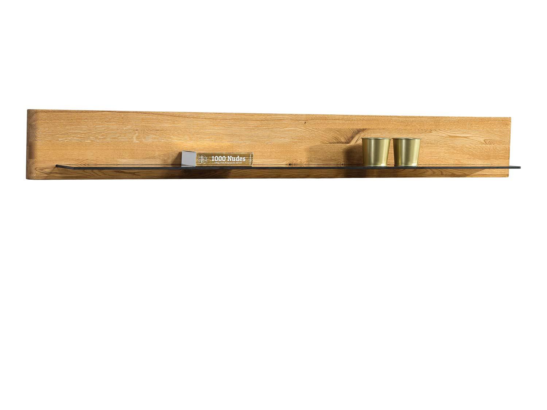 Drewniano szklana półka