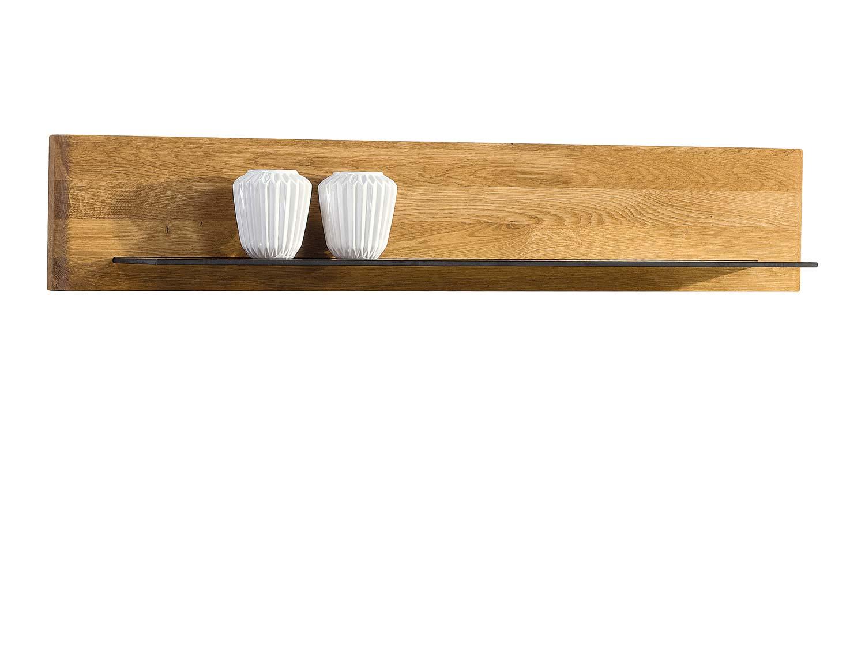 Szklano drewniana półka