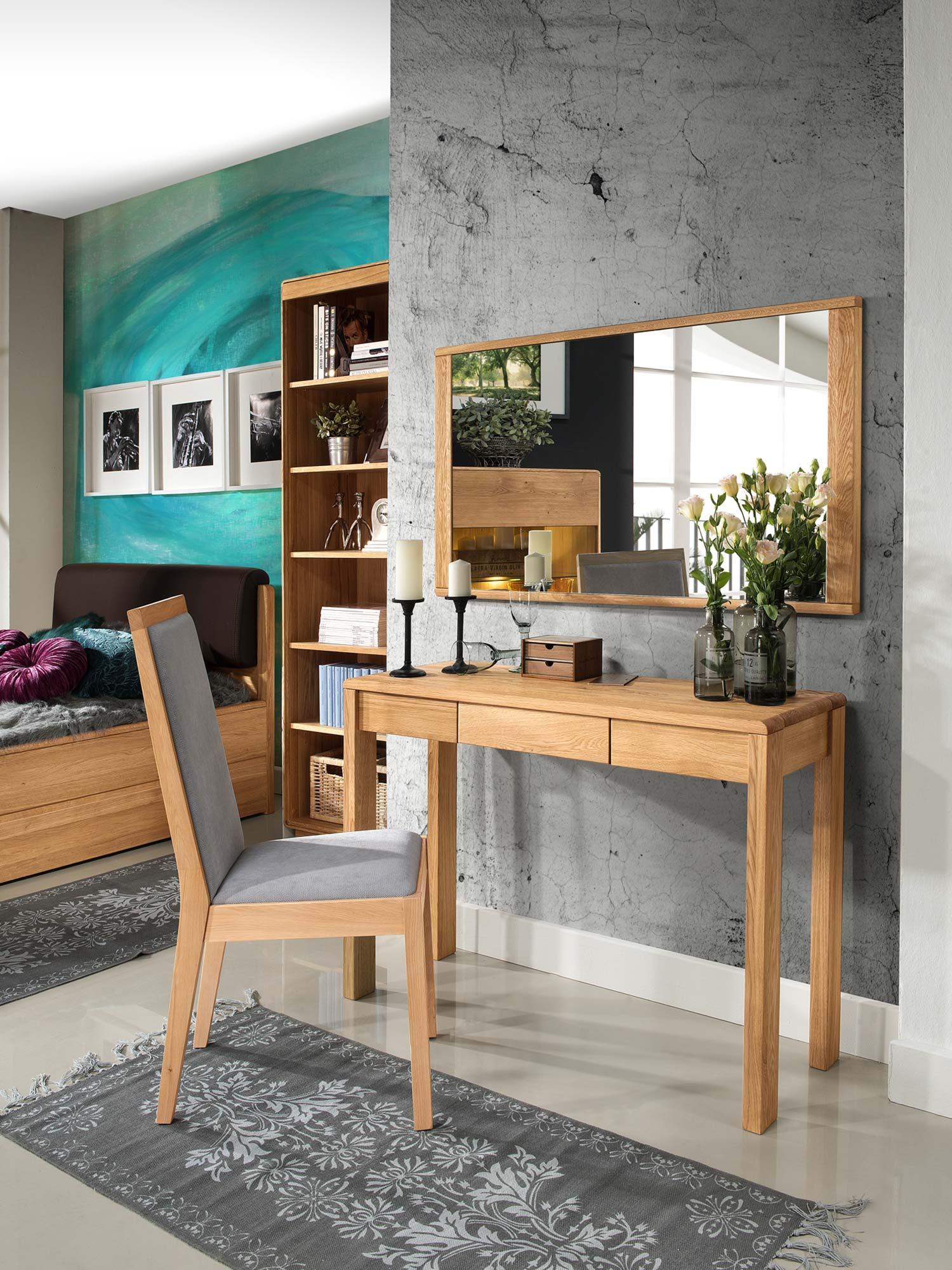 Zestaw stolik krzesło lustro