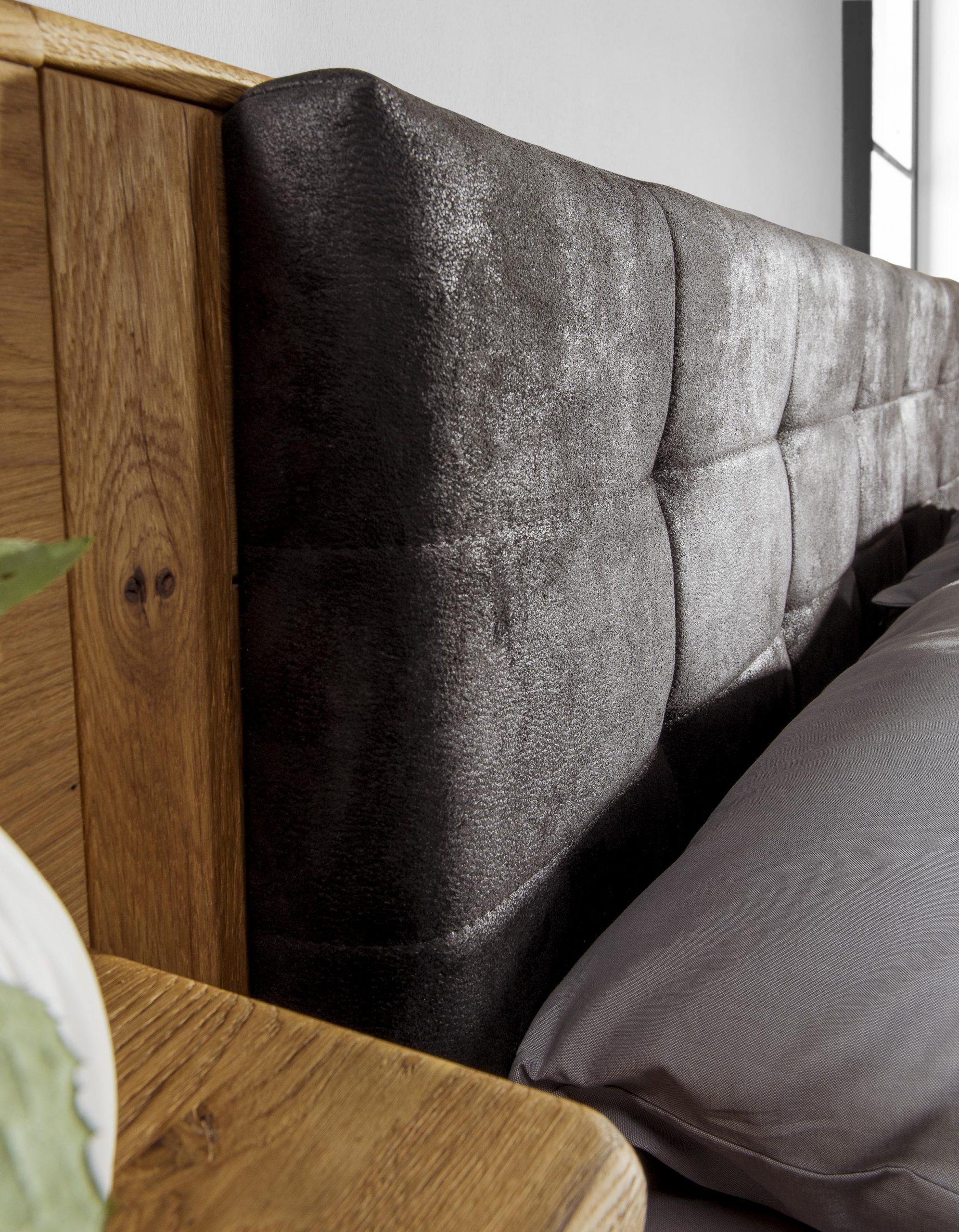 Zagłówek łóżka dębowego