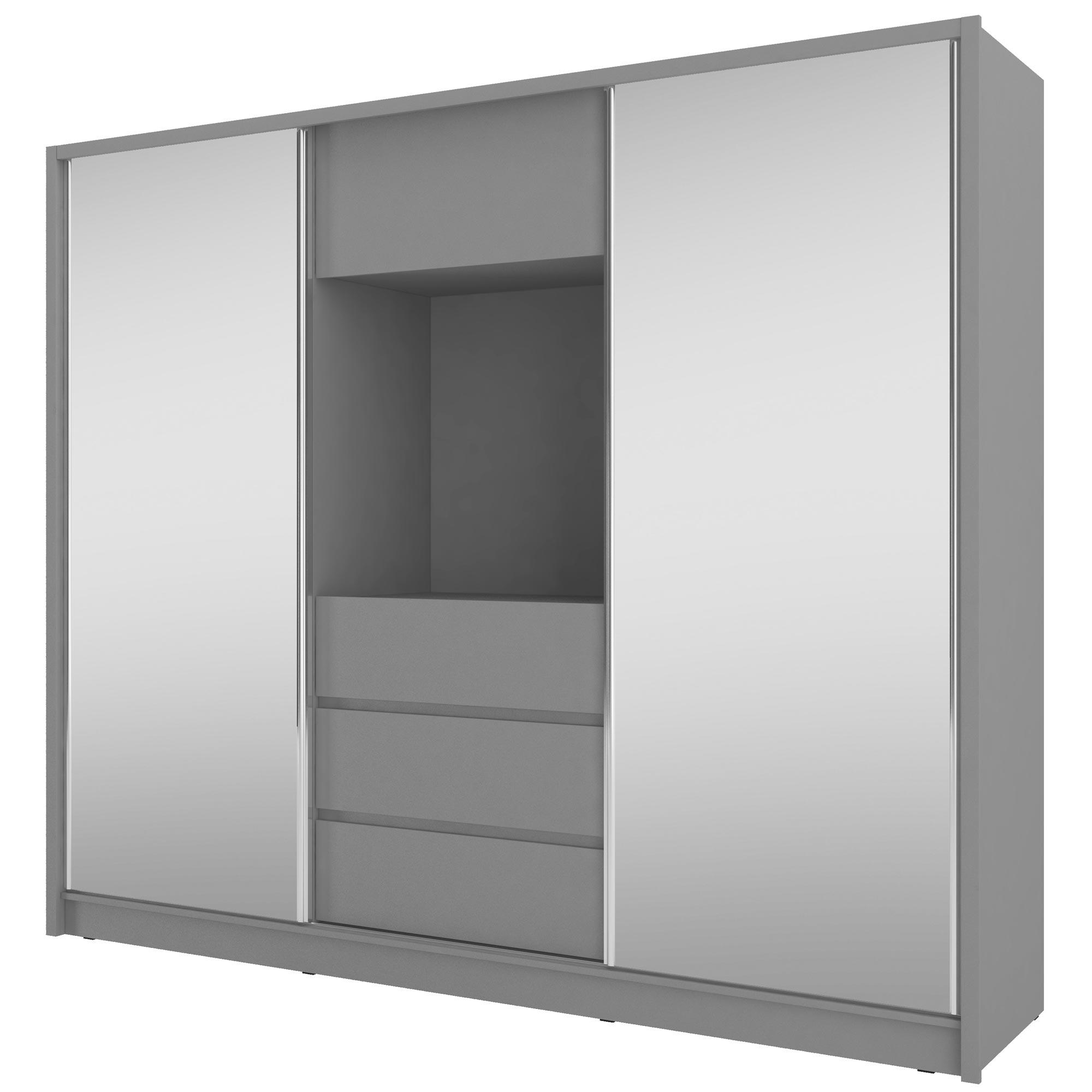 Pojemna szafa z lustrem i wnęką TV SEZAR