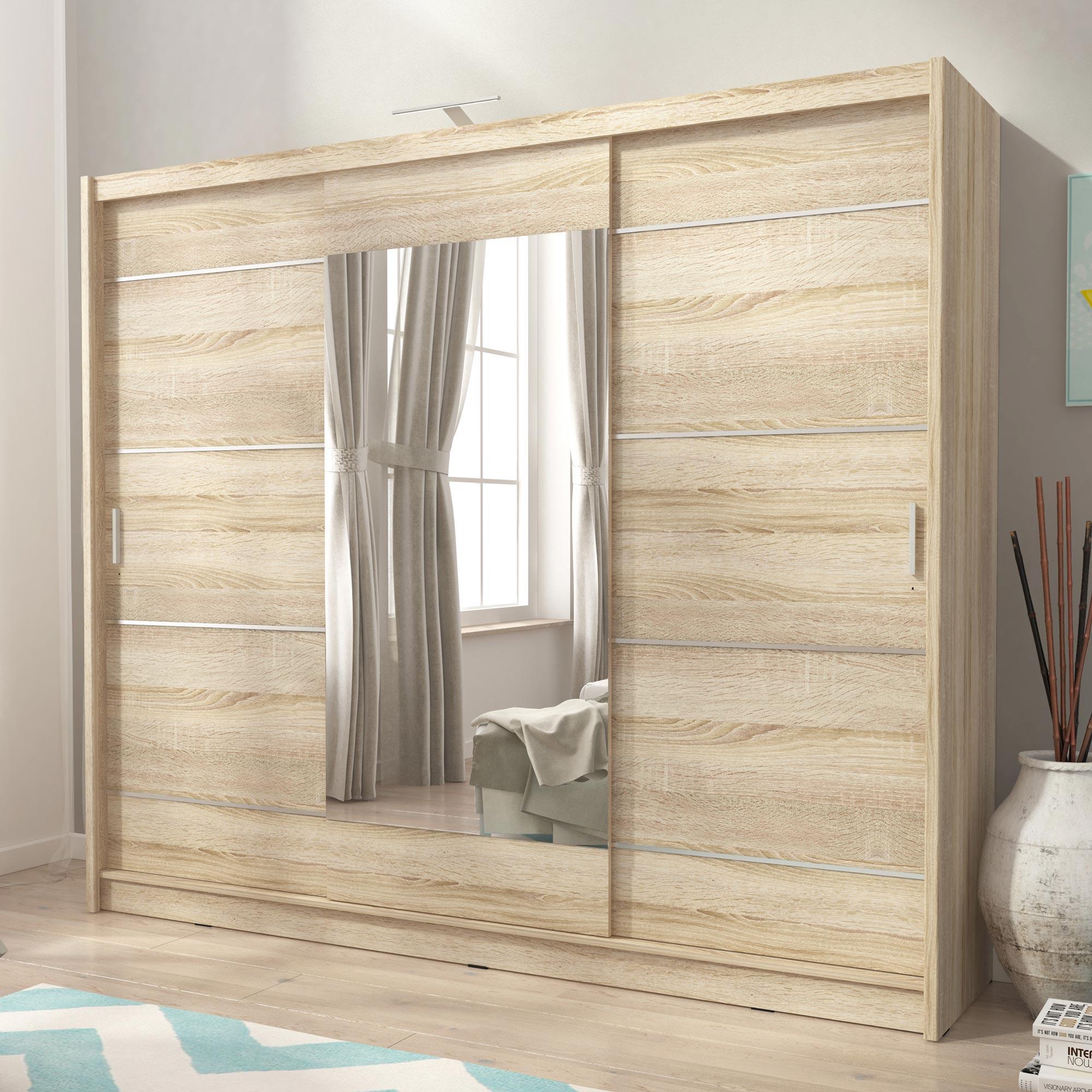 Pojemna szafa z drzwiami przesuwnymi Zefir ALU 250cm