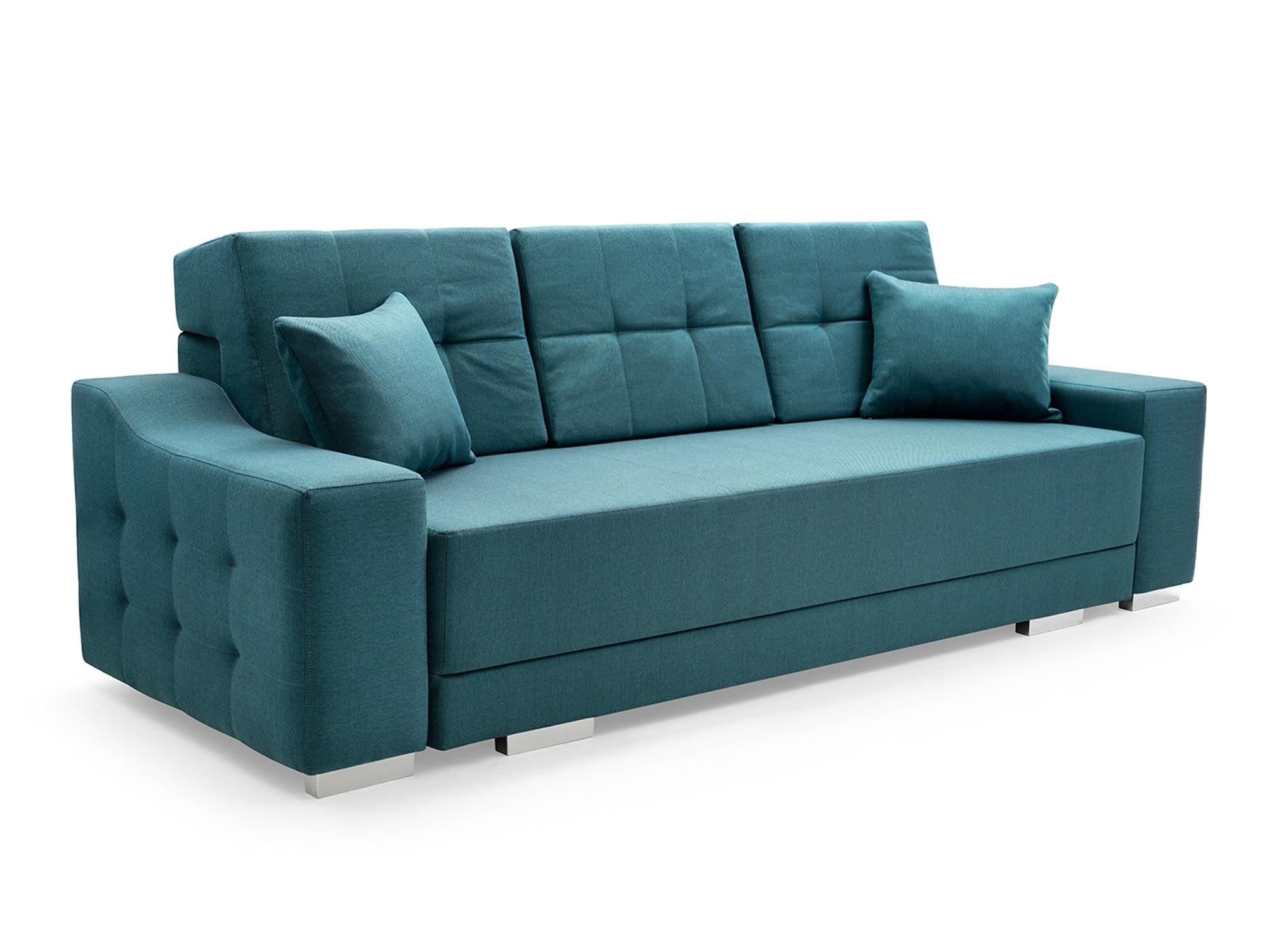 Sofa 2 Osobowa z Funkcją Spania PALMAS białe tło