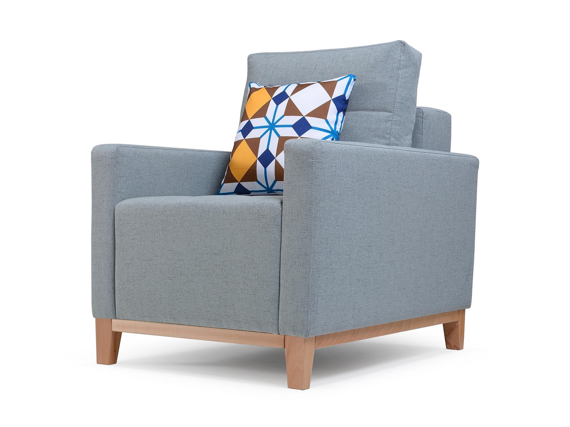 Fotel W Stylu Skandynawskim JANDIRA białe tło