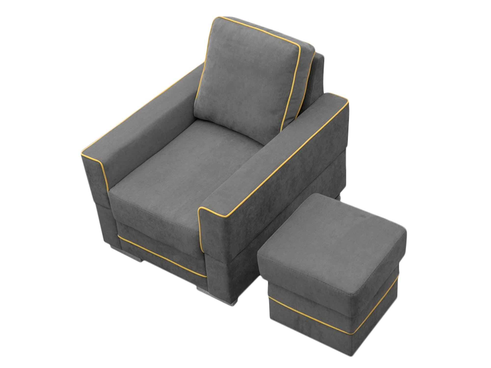 Fotel Tapicerowany MANAUS białe tło